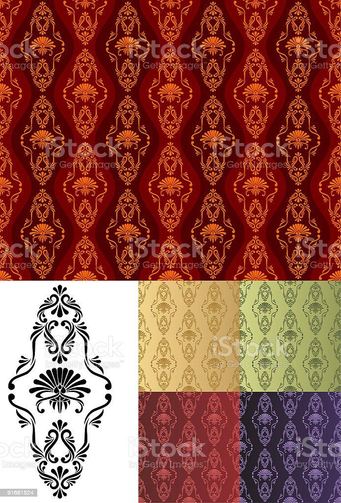 Ornament Wallpaper royalty-free stock vector art