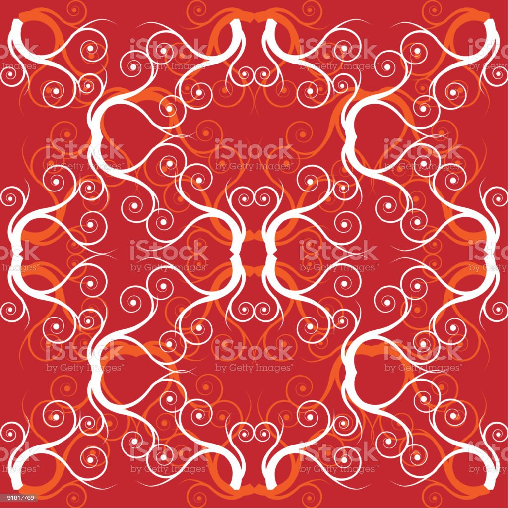 Ornament wallpaper, seamless, old style royalty-free stock vector art