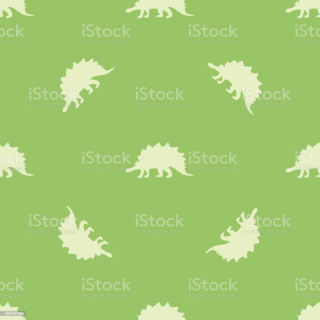 Ornament with dinosaurs vector art illustration