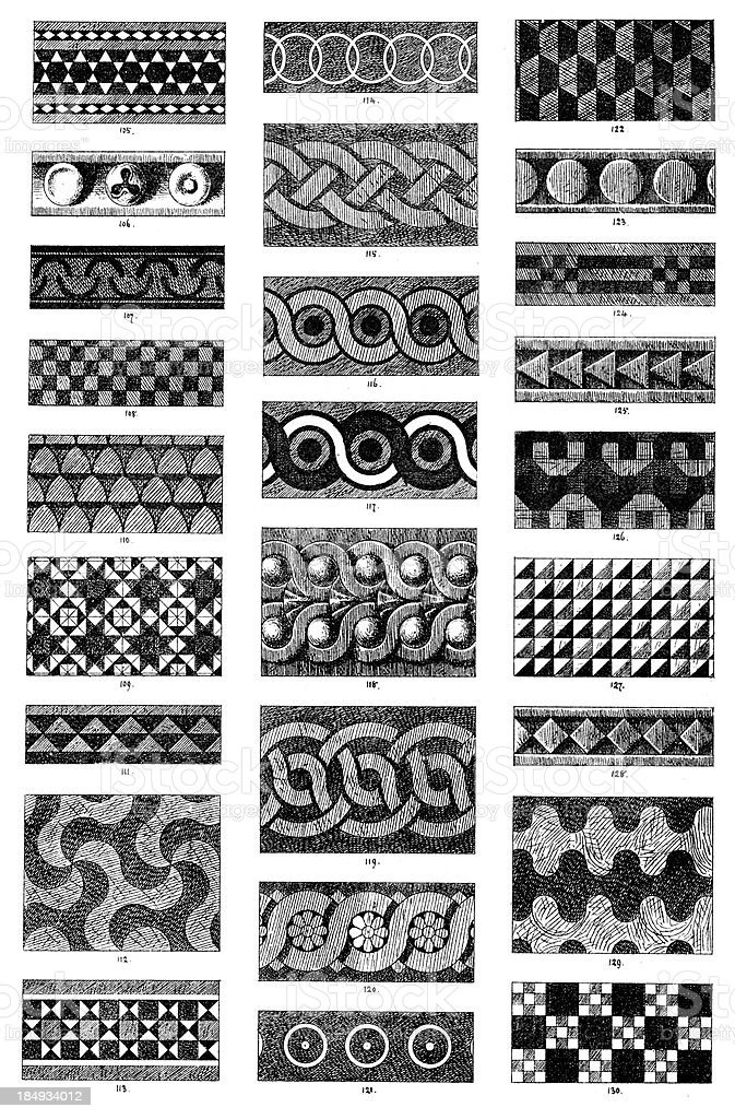 Ornamental art deisgn elements royalty-free stock vector art