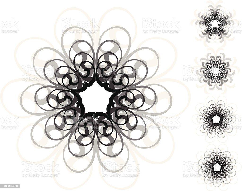 ornamental circle elements royalty-free stock vector art