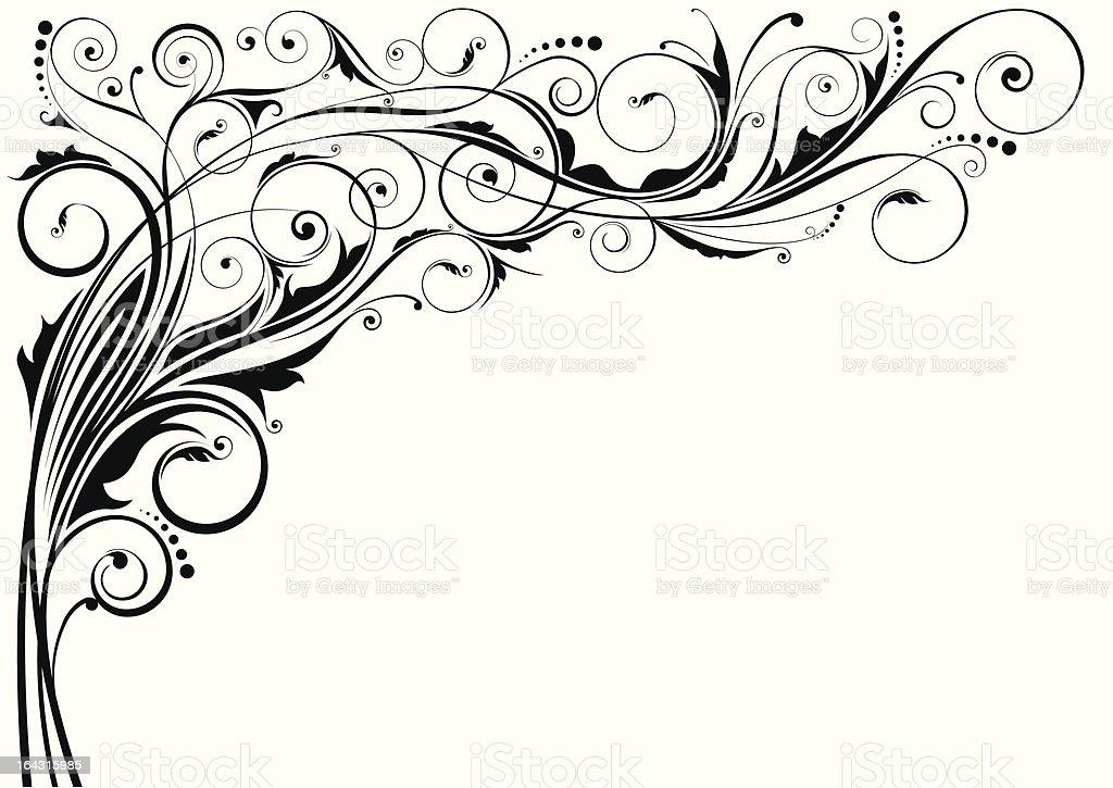 Ornamental corner design royalty-free stock vector art