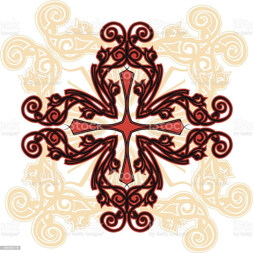 ornamental cross royalty-free stock vector art