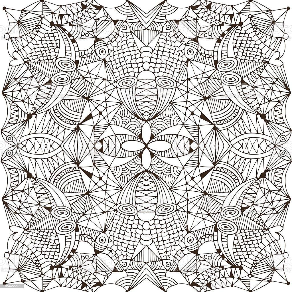 Ornamental drawing royalty-free stock vector art