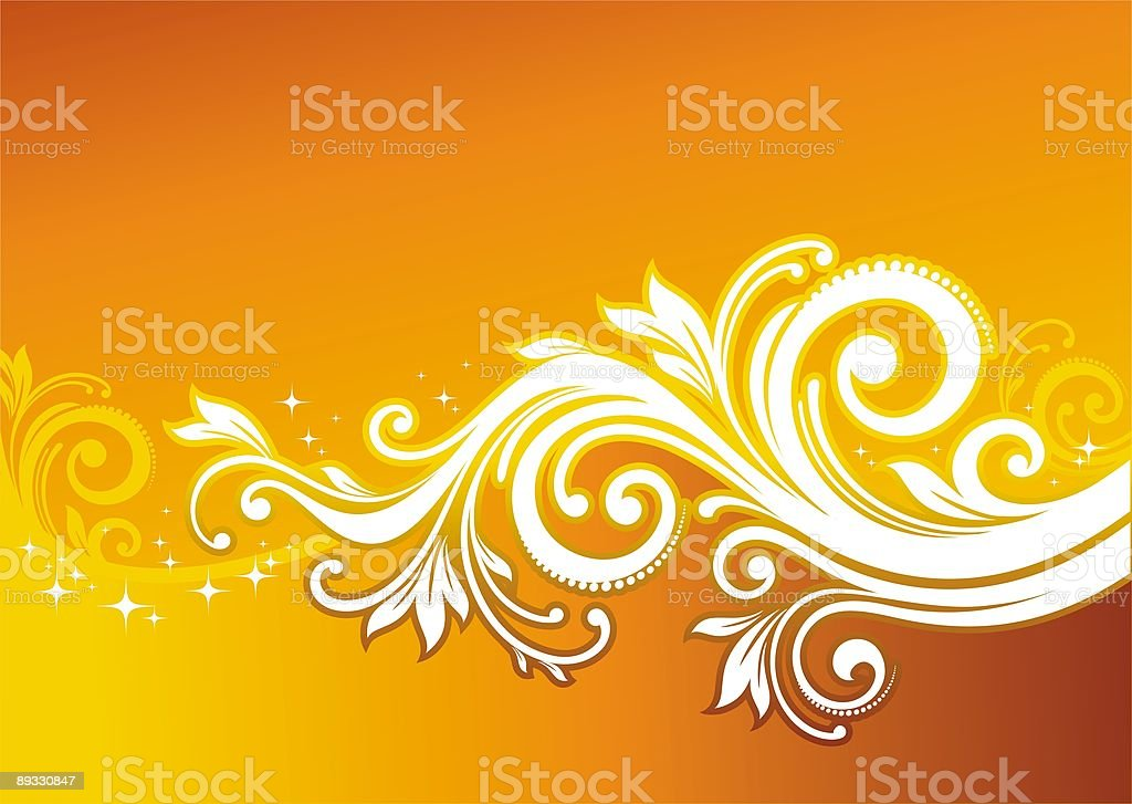 Ornamental floral design royalty-free stock vector art