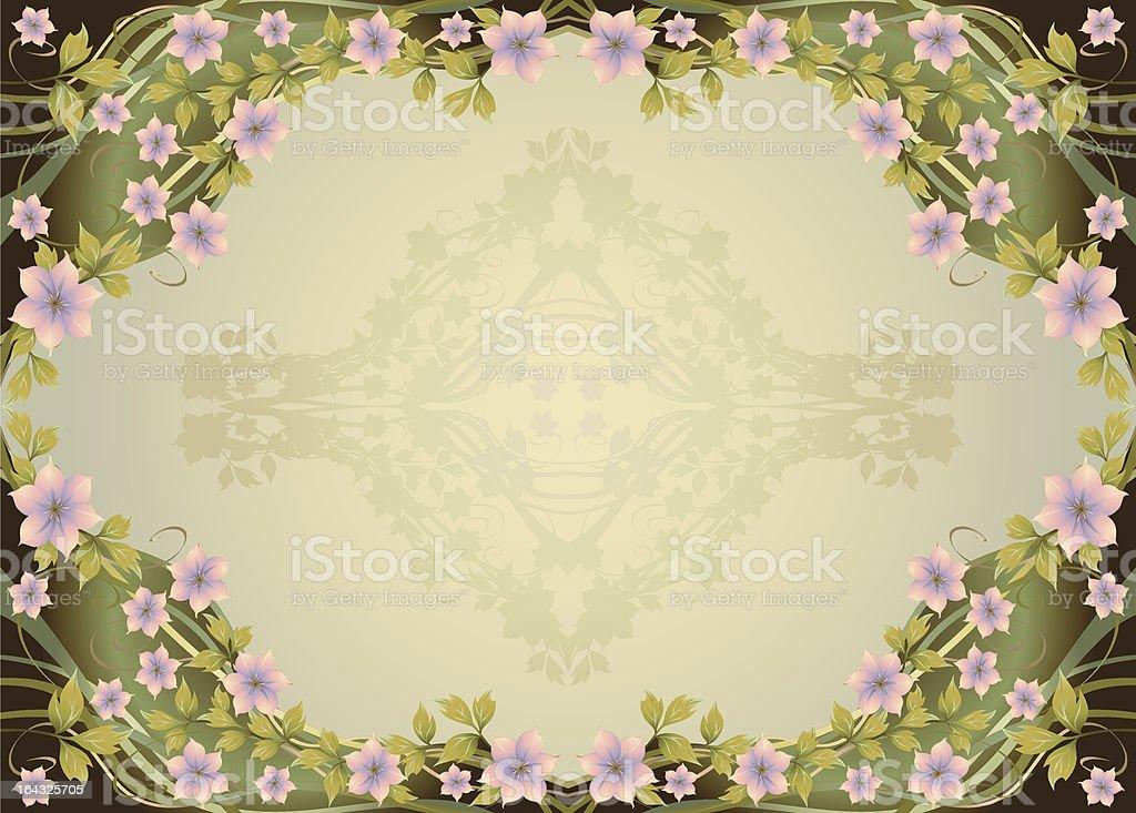 Ornamental Floral Frame royalty-free stock vector art