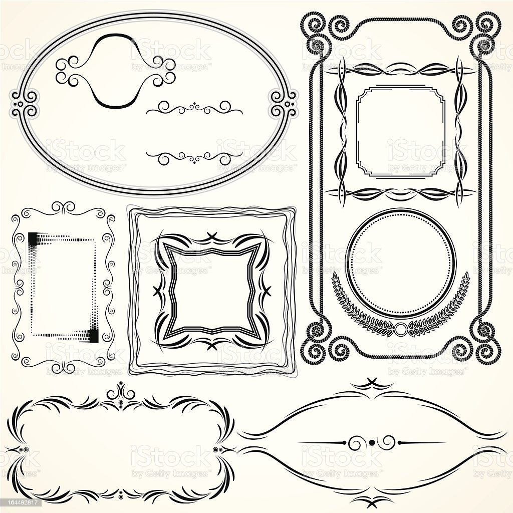 Ornamental Frames royalty-free stock vector art