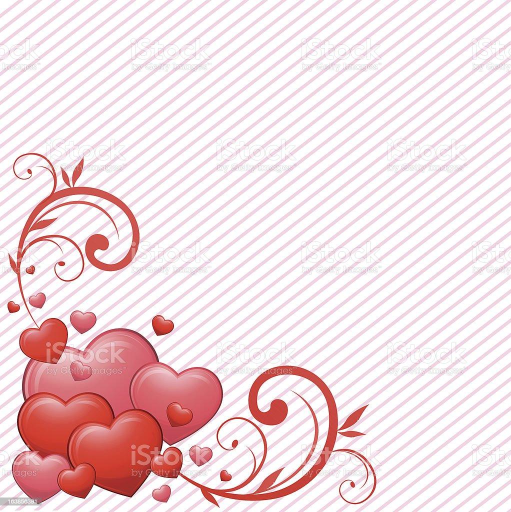 Dekoracyjne serca stockowa ilustracja wektorowa royalty-free