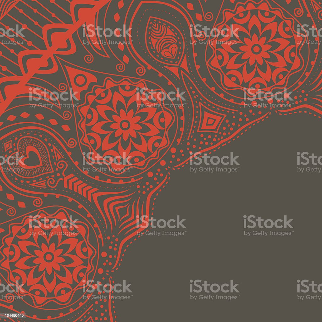 Ornamental lace pattern, corner royalty-free stock vector art