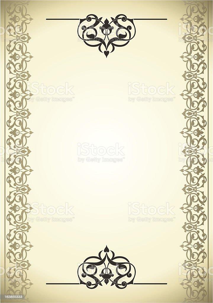 Ornamental pattern frame royalty-free stock vector art