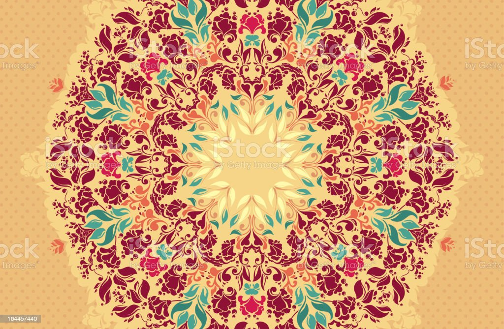 Ornamental round floral lace pattern. royalty-free stock vector art