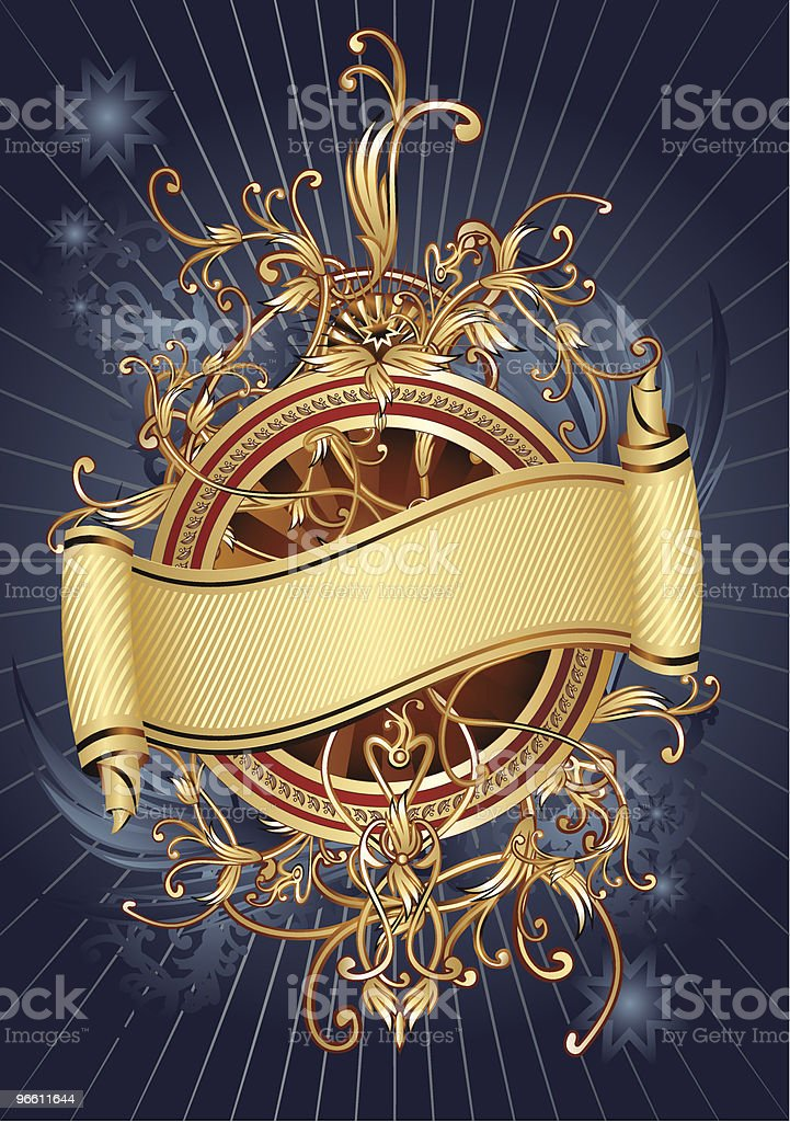 Ornamental scroll royalty-free stock vector art
