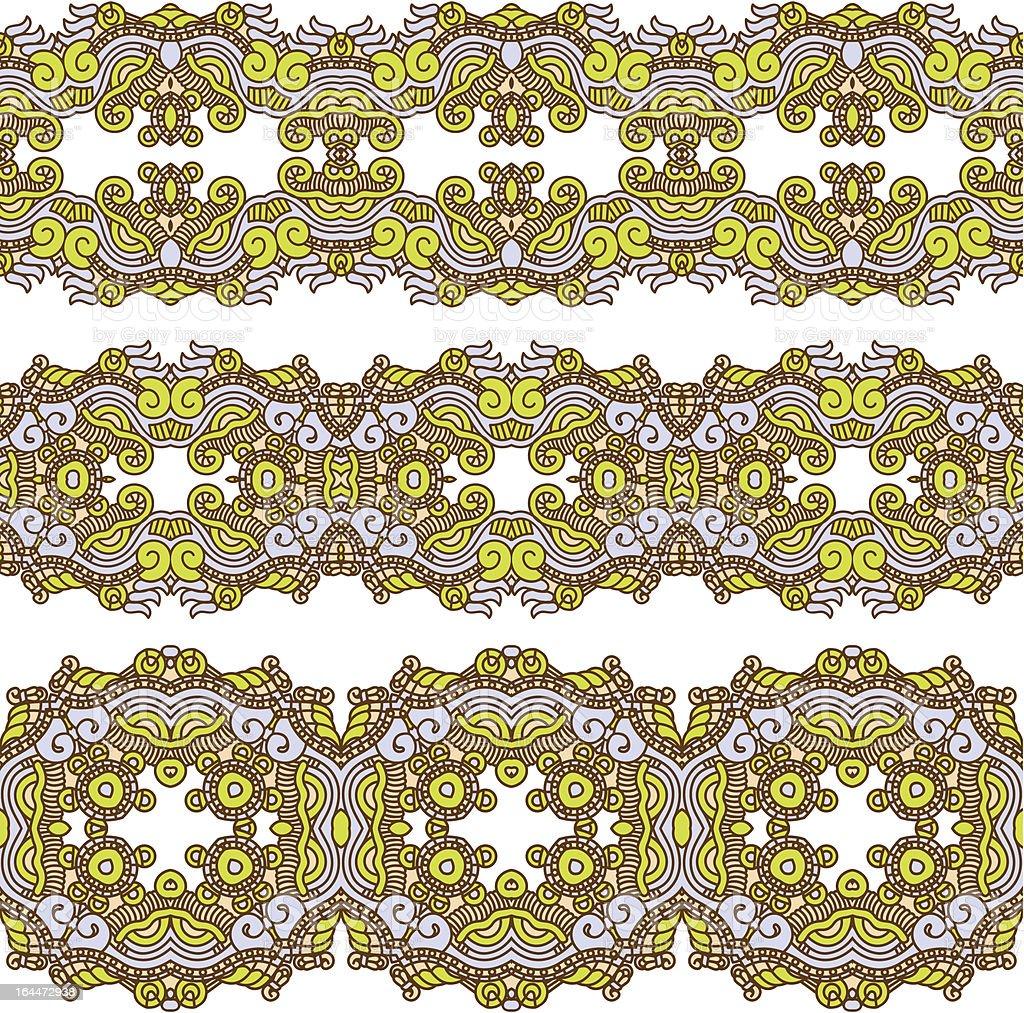 Ornamental seamless pattern vector art illustration