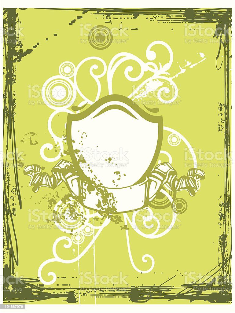 Ornamental Shield Background royalty-free stock vector art