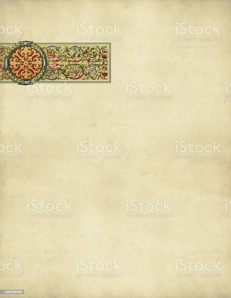 Ornaments Italy 16th Century vector art illustration