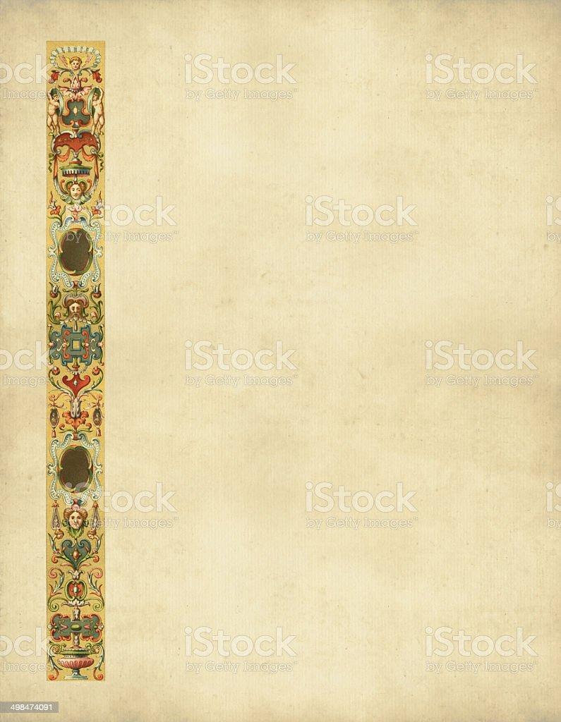 Ornaments Italy 16th Century vector art illustration