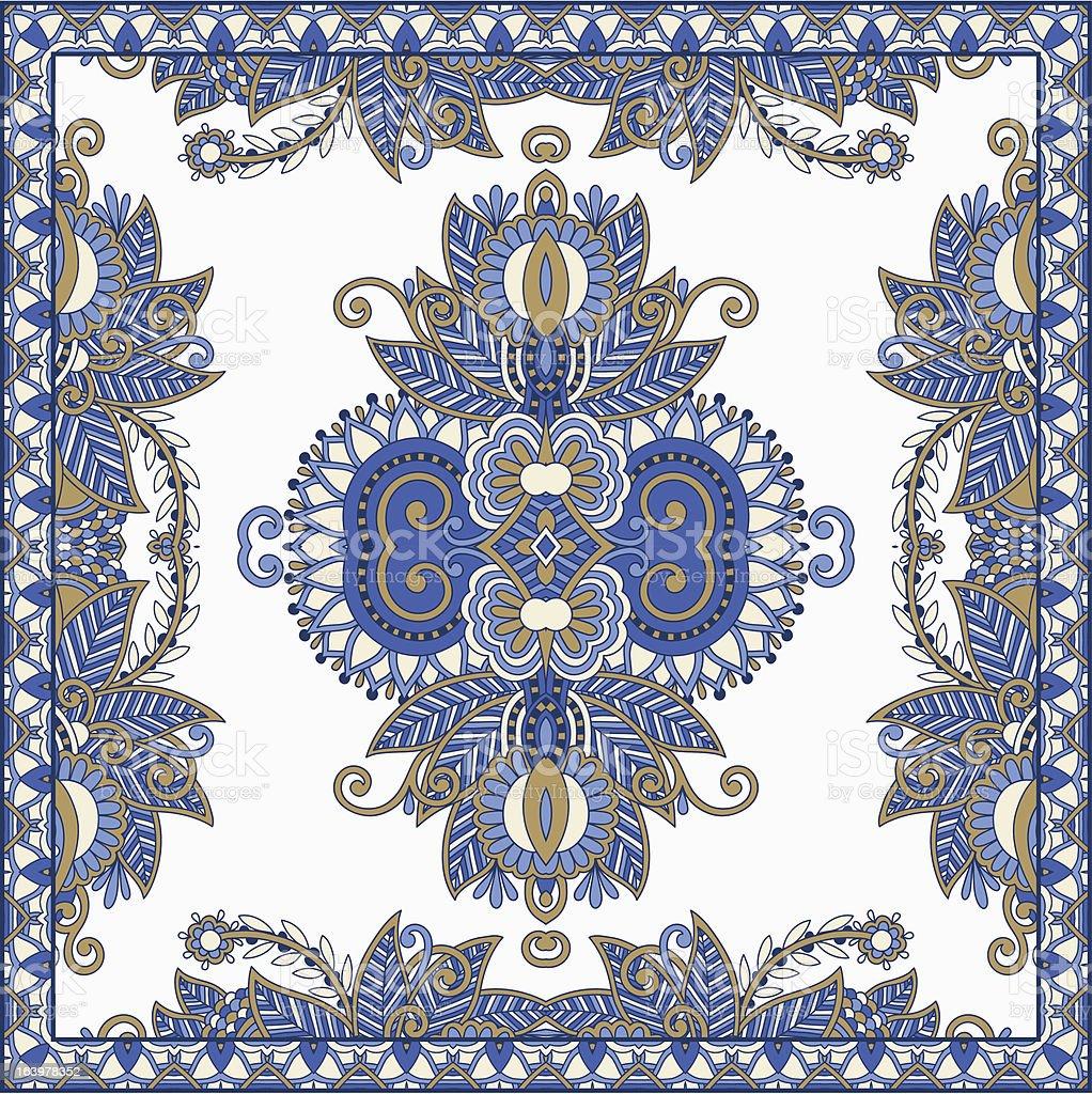 ornate bandanna royalty-free stock vector art
