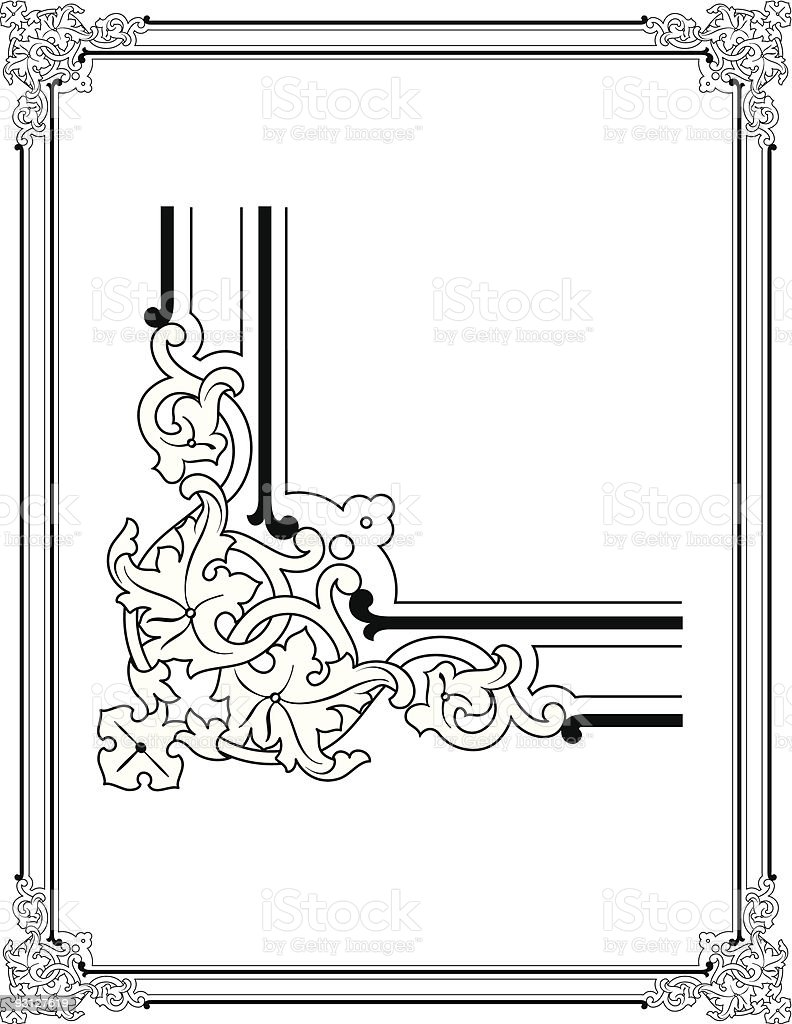 Ornate Border Design royalty-free stock vector art