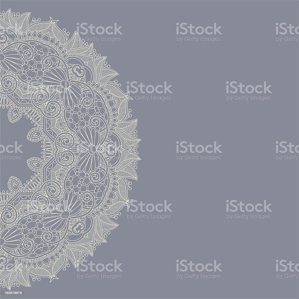 Ornate card with circle ornament royalty-free stock vector art