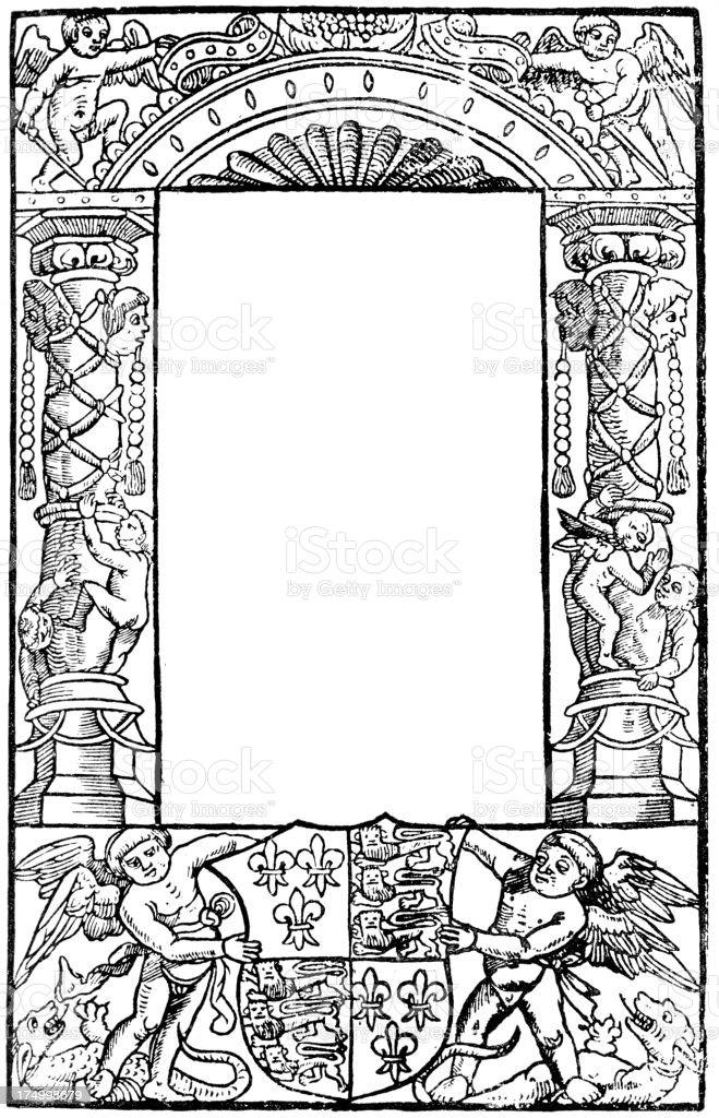 Ornate Classical Border Frame royalty-free stock vector art