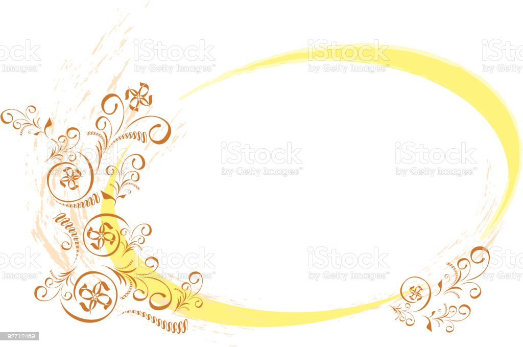Ornate Ellipse Frame royalty-free stock vector art