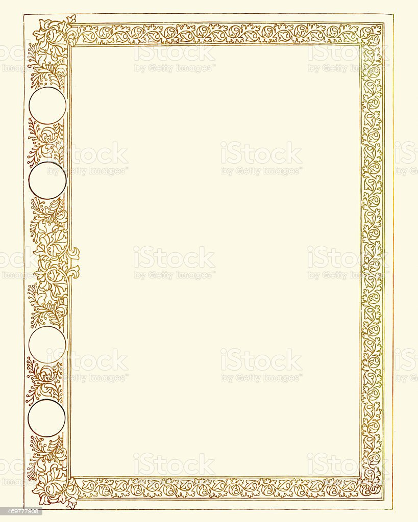 Ornate Gold Certificate Border stock vector art 469777908 ...