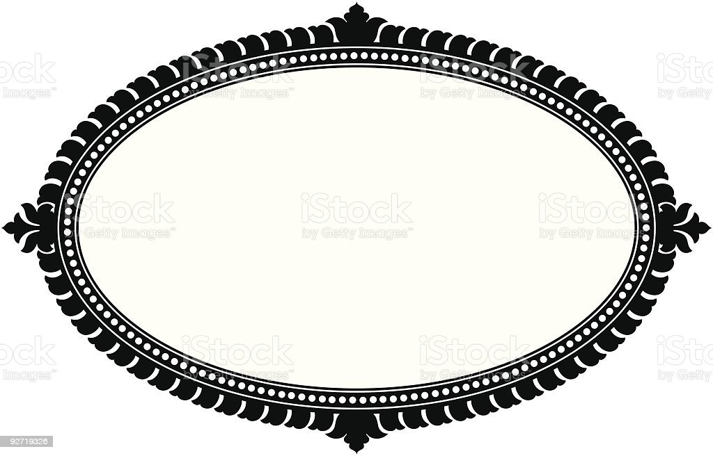 Ornate Oval Panel (vector) vector art illustration