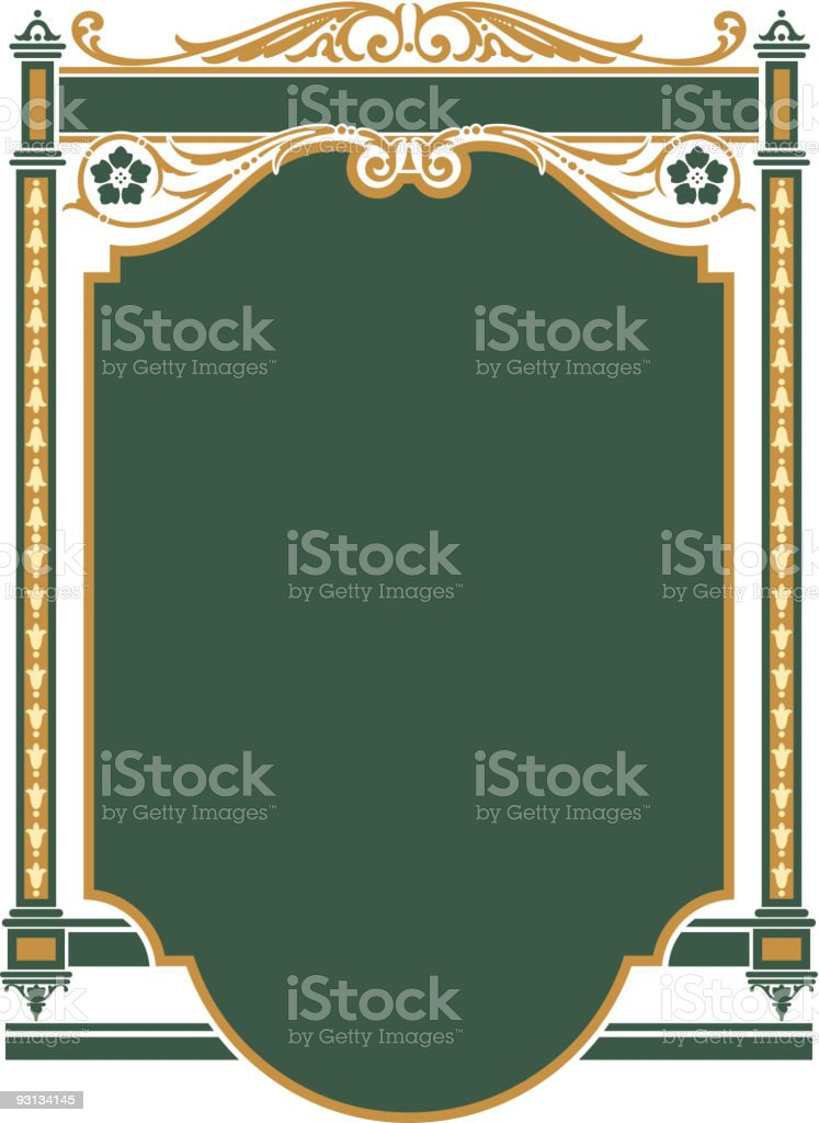 Ornate Panel Design royalty-free stock vector art