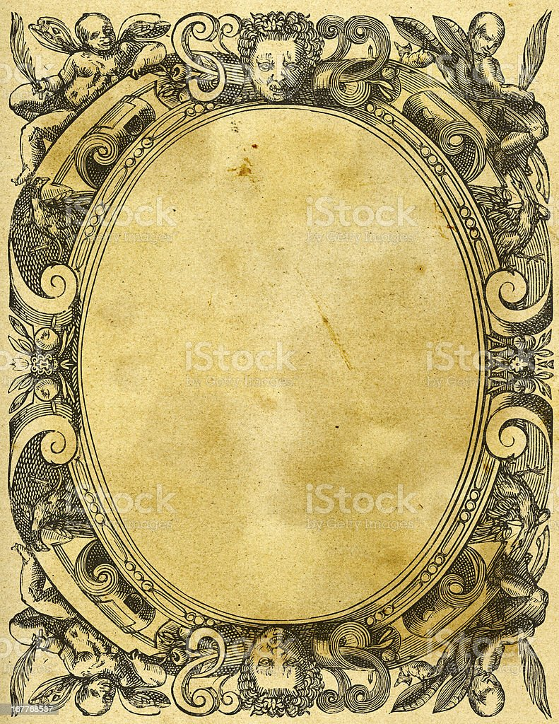 Ornate Retro Picture Frame royalty-free stock vector art