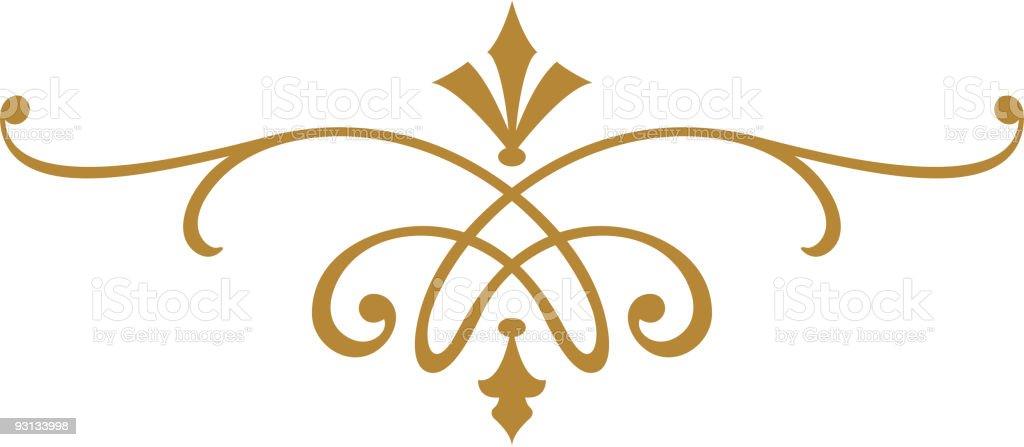 Ornate Scroll Design vector art illustration