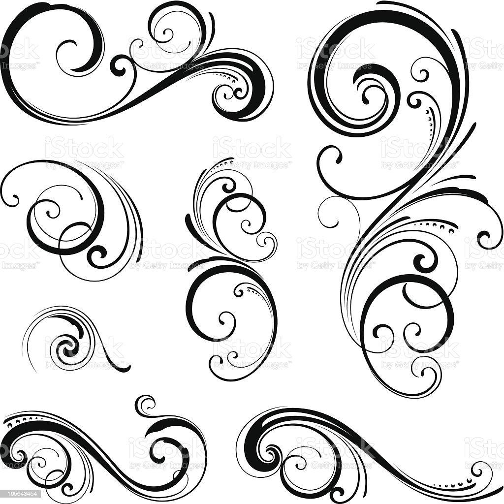 Ornate swirls vector art illustration