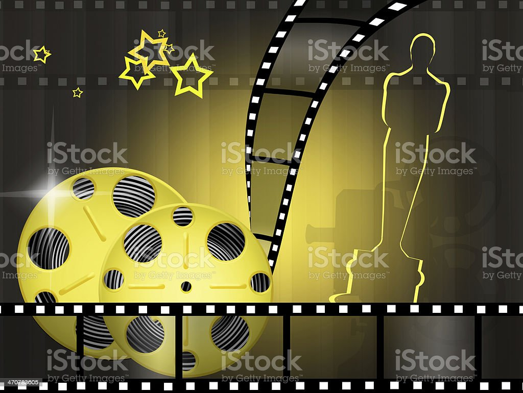 Oscar awards royalty-free stock vector art