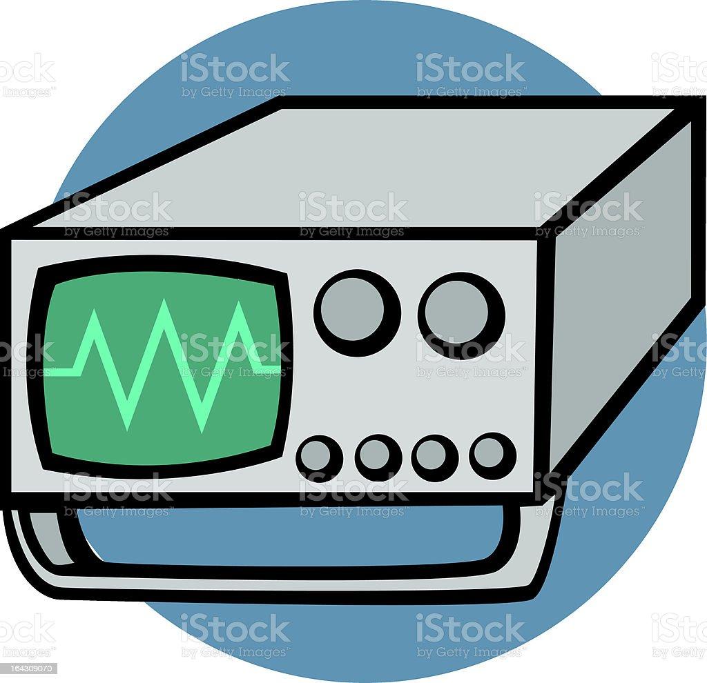 oscilloscope royalty-free stock vector art
