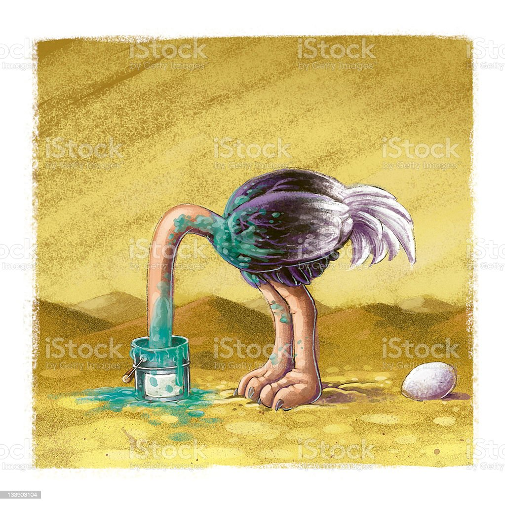 ostrich vector art illustration