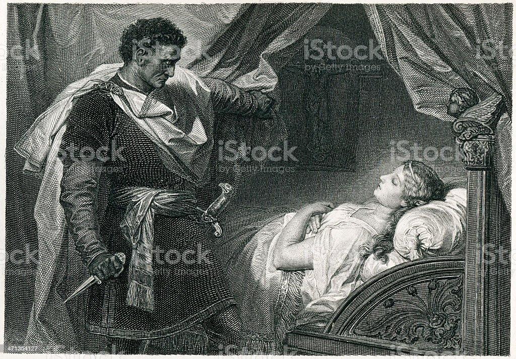 Othello And Desdemona vector art illustration