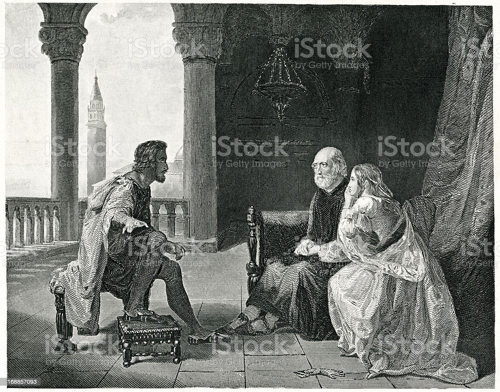 Othello Relating His Adventures royalty-free stock vector art