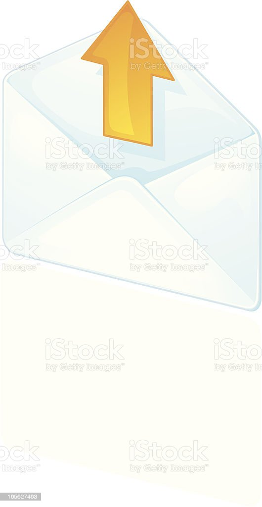 Out Envelope royalty-free stock vector art