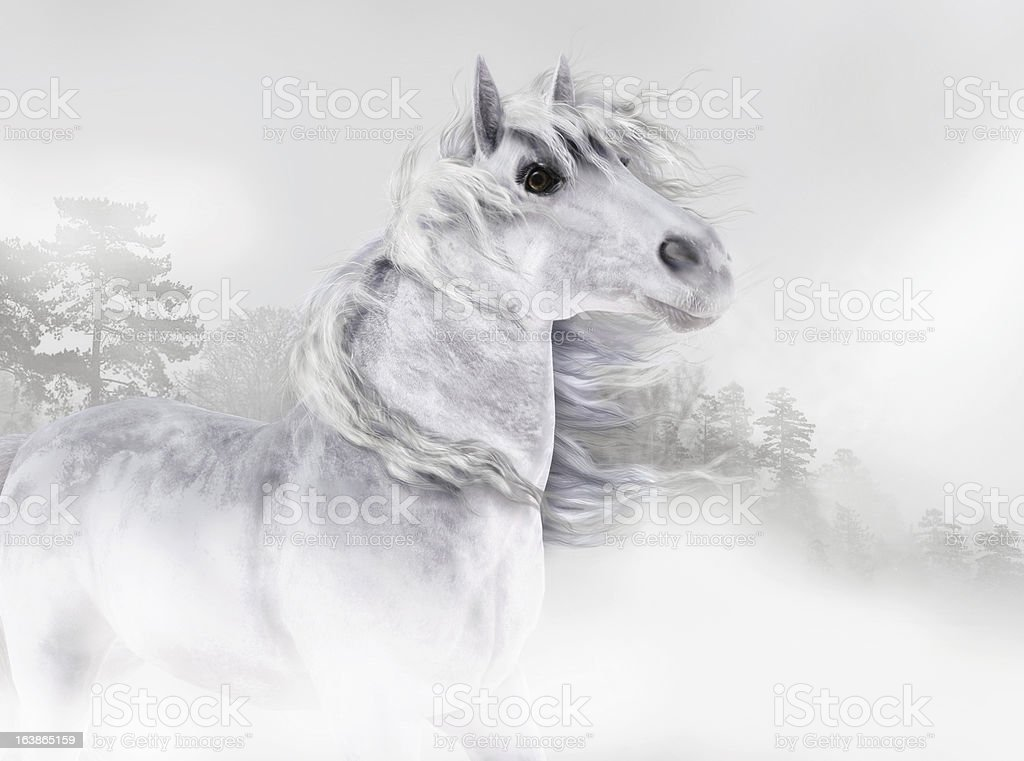 Out of the Mist royalty-free stock vector art