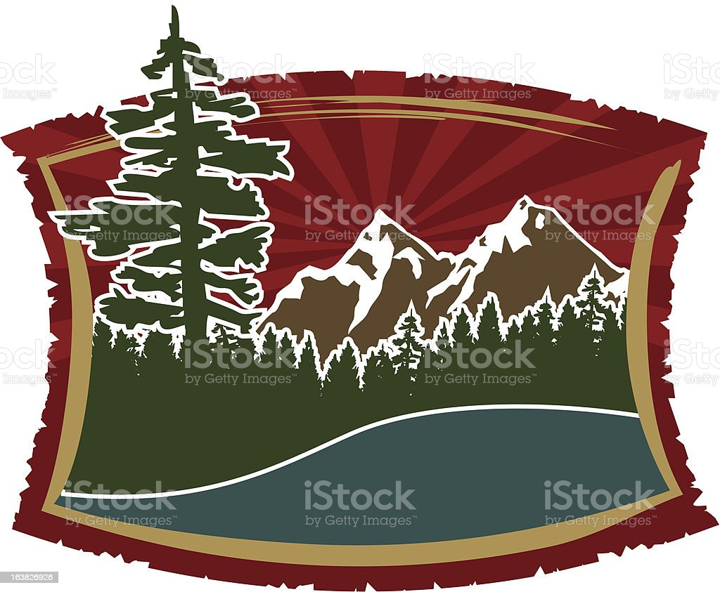 Outdoor Icon vector art illustration