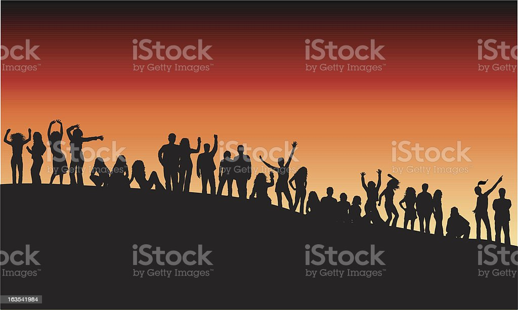 Outdoor party royalty-free stock vector art