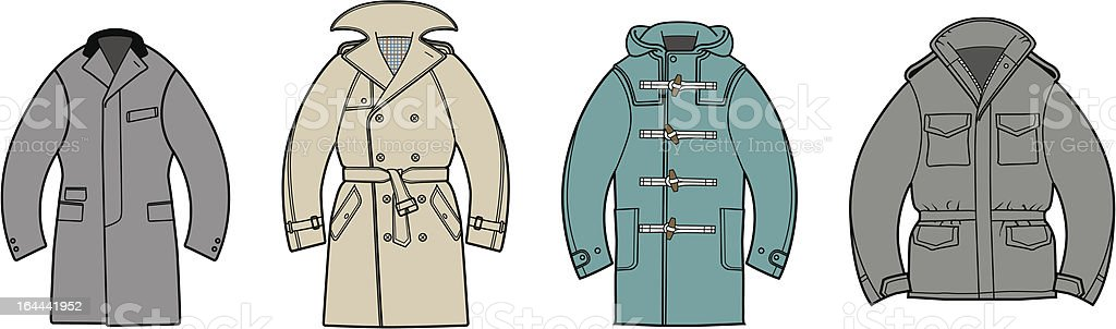 Outerwear Collection vector art illustration