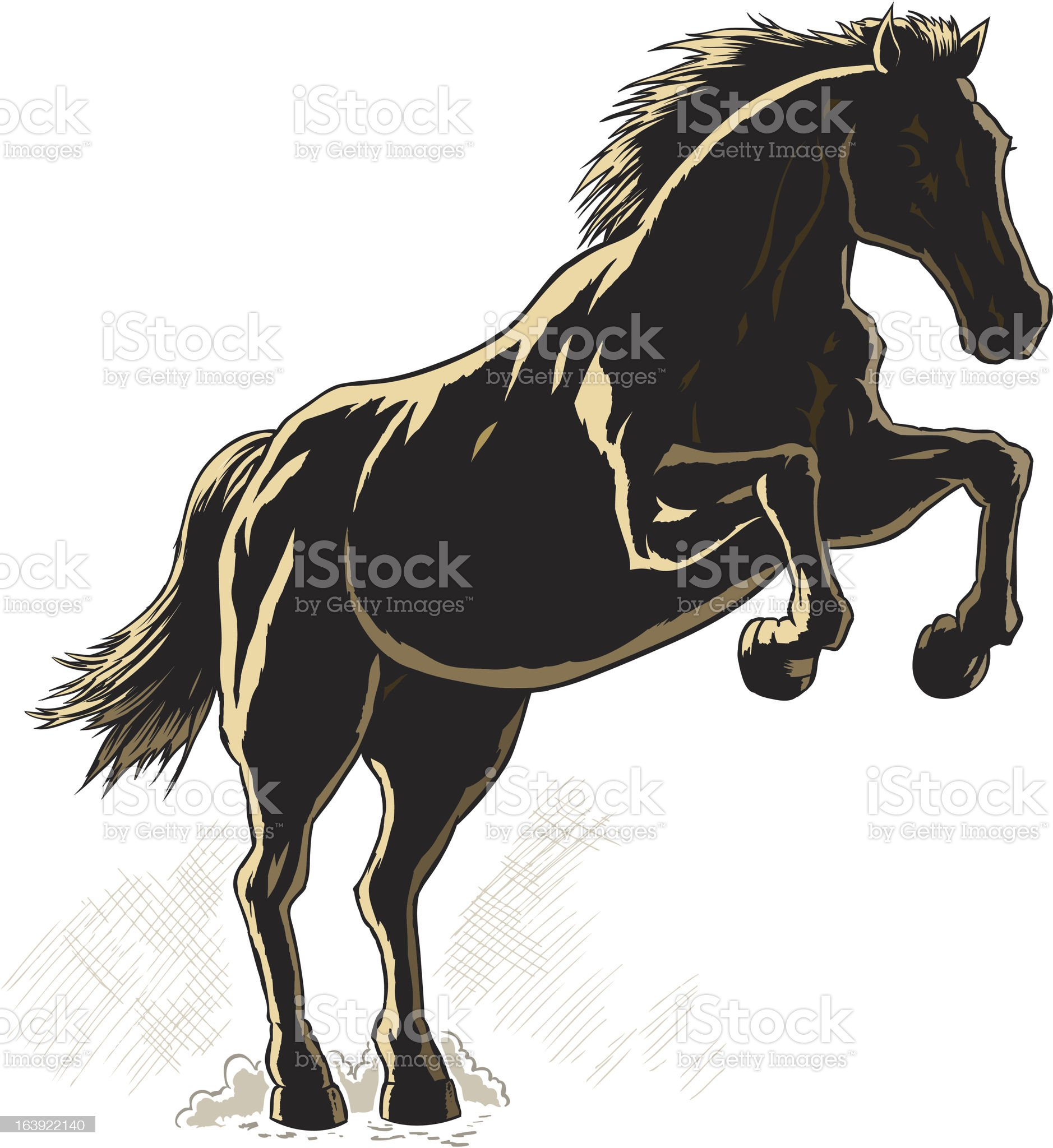 Outline of a horse. royalty-free stock vector art