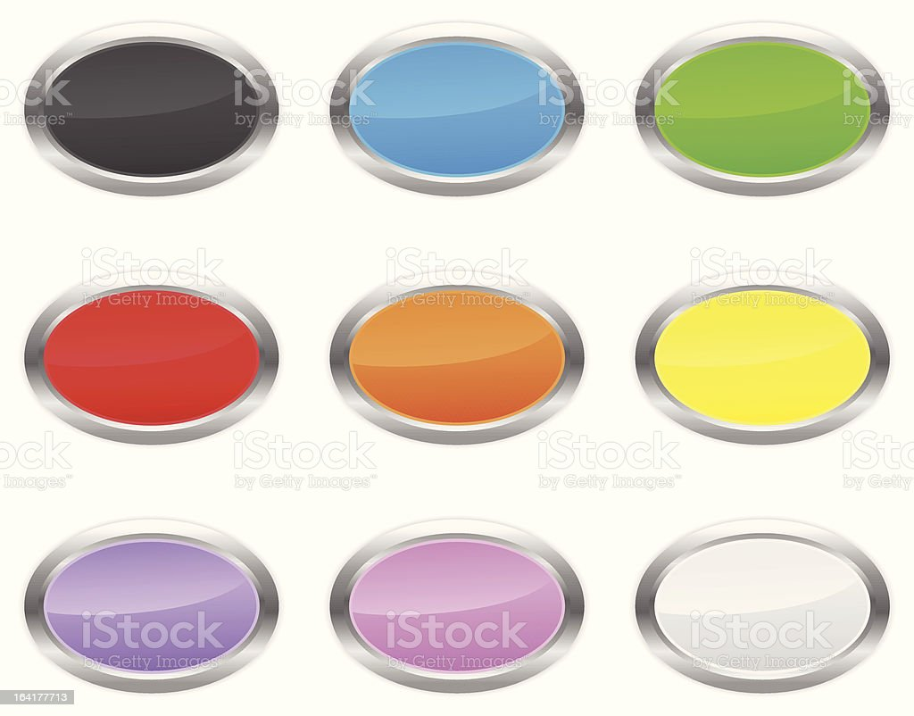 Oval buttons royalty-free stock vector art