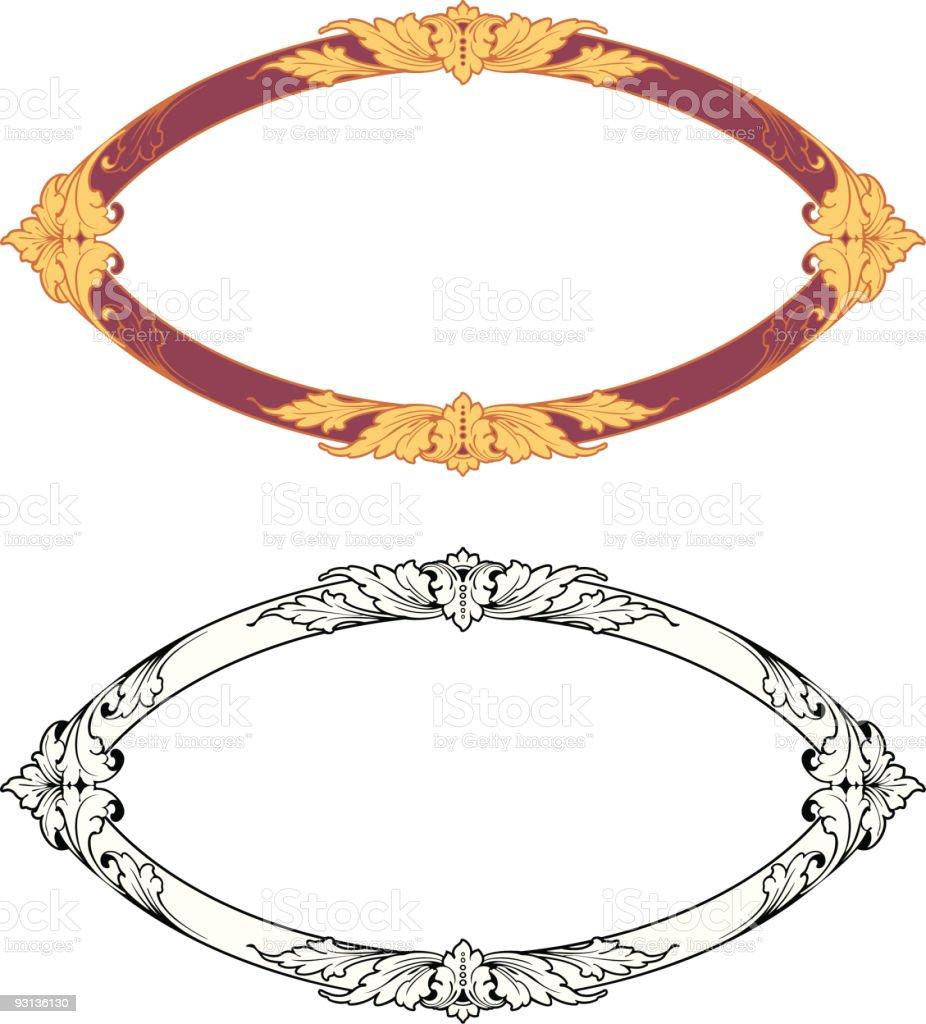 Oval Design (vector) royalty-free stock vector art