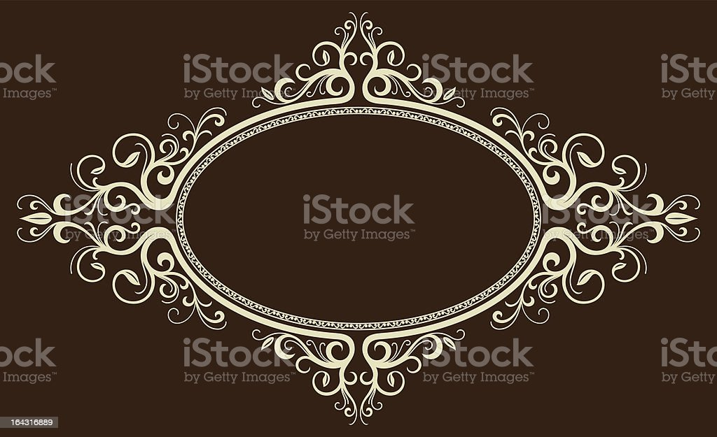 Oval vintage frame royalty-free stock vector art