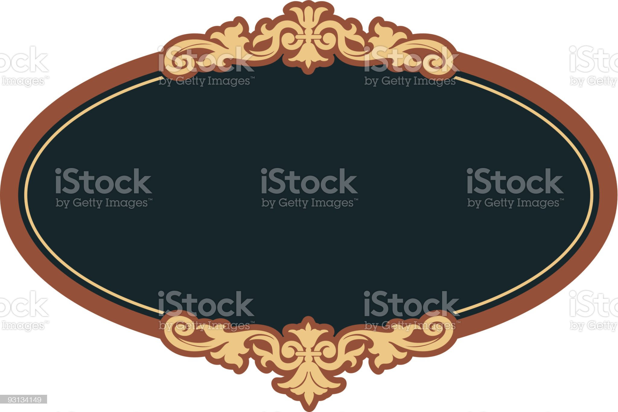 Oval-9-20-04 royalty-free stock vector art