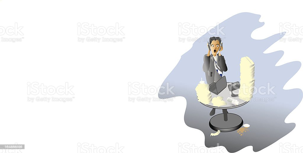 Overworked Businessman royalty-free stock vector art