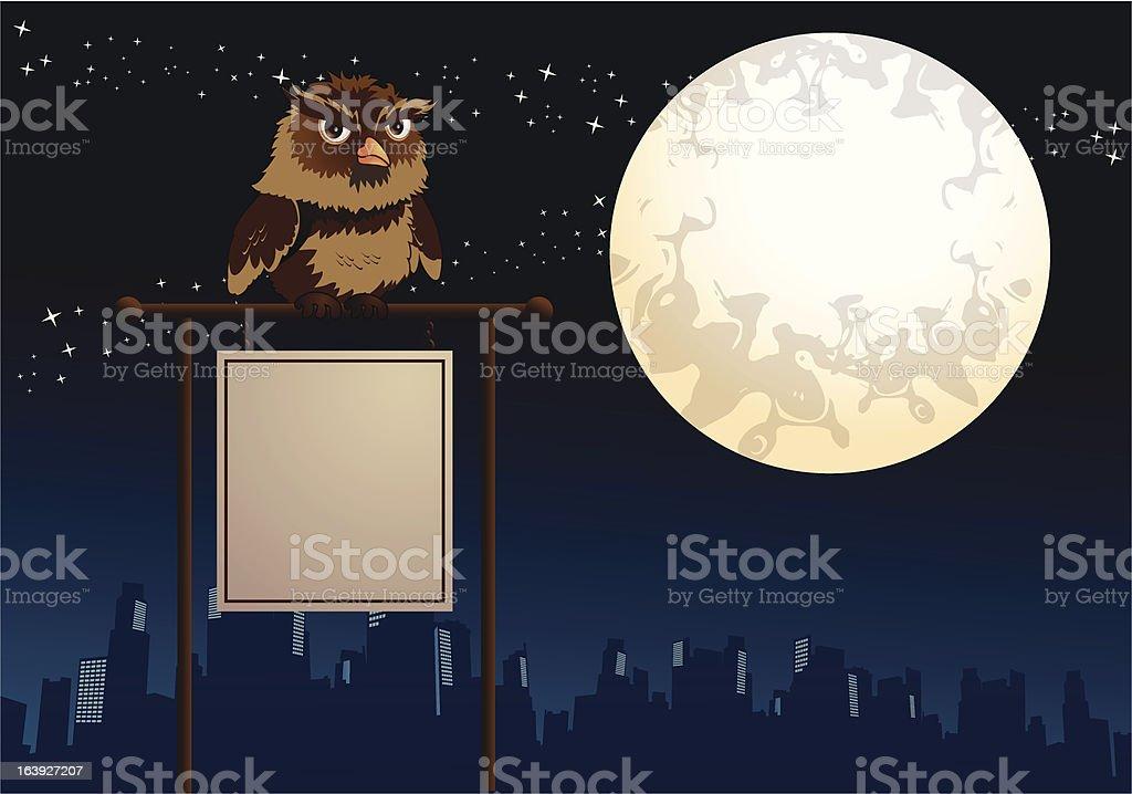 owl banner royalty-free stock vector art