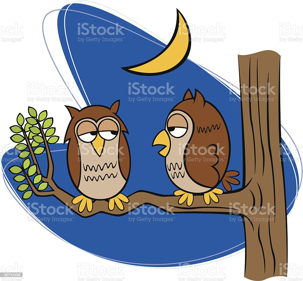Owl Pals royalty-free stock vector art