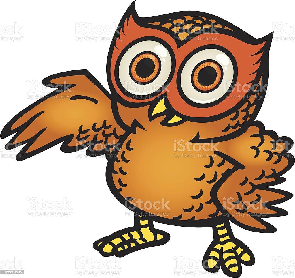owl presents royalty-free stock vector art